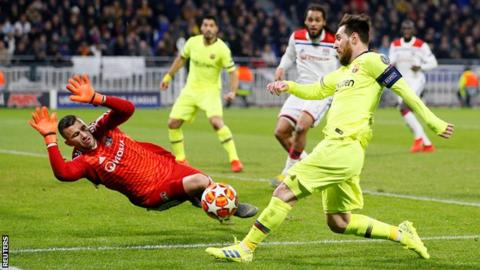 Barcelona have 25 shots but goalless in draw with Lyon