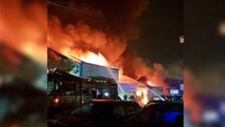 Fire at Birmingham tyre centre