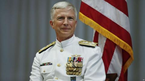 "U.S. Navy Admiral on Russia ""wounded, weakened bear that's just lashing out"""