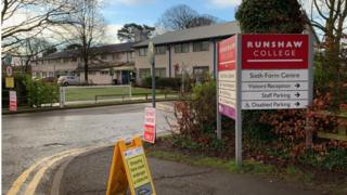 Runshaw college: Machete found after gang attack