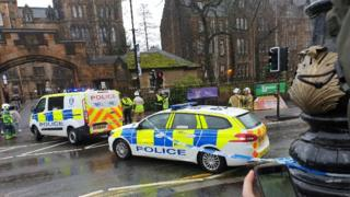 Controlled explosion of suspect package found at Glasgow University