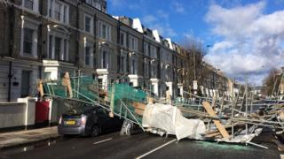 Strong winds: Scaffolding collapses and Dartford bridge closed