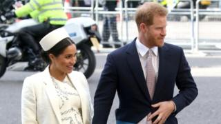 Harry and Meghan attend Commonwealth Day service