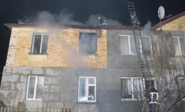 Two-storey house on fire, one deceased in Ukraine