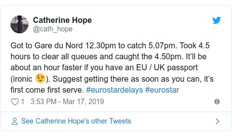 Eurostar tells customers