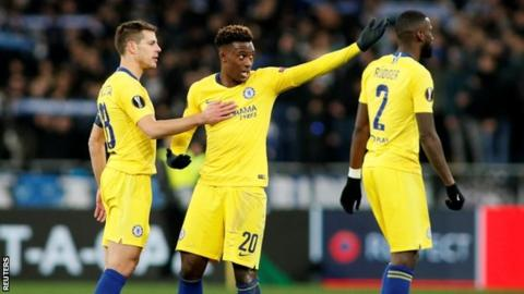 Chelsea complain to Uefa about racist abuse of Hudson-Odoi in Kiev
