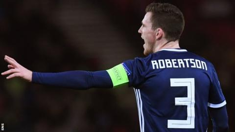 Robertson to miss Scotland game in Kazakhstan