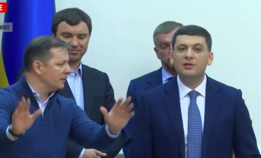 Leader of Radical Party of Ukraine disrupts Cabinet session