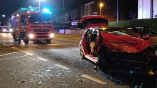 Erdington crash: Children, aged 3 and 5, among injured