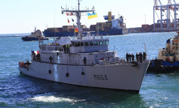 NATO's Minehunter arrives in Odesa