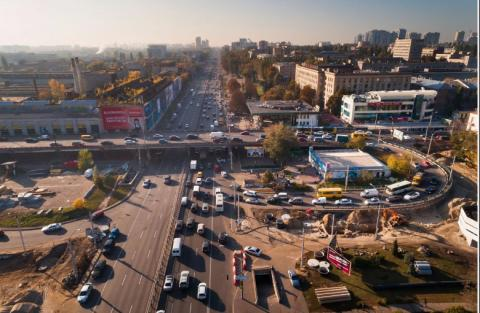 Shuliavsky bridge in Kyiv closed from today
