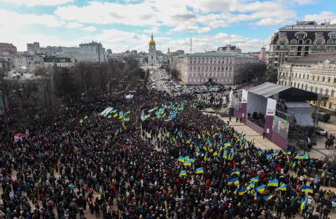 About 25 000 people take part in Poroshenko's meeting with voters