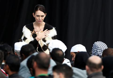 New Zealand holds national memorial service for mosque massacre victims