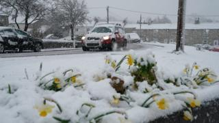 Spring snowfall surprises much of England