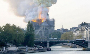 Fire at Notre Dame cathedral: Spire and roof fell, video