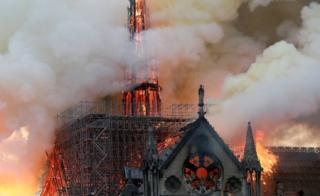 Images of the blaze at Notre-Dame in Paris
