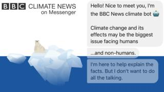 Confused about climate change?Talk to our chat bot