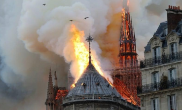Notre Dame Cathedral fire started from spire, - police