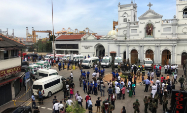 Six blasts in churches occurred on Sri Lanka