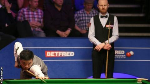 World Championship 2019: Ding Junhui beats Anthony McGill
