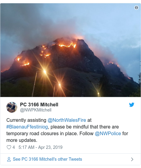 Blaenau Ffestiniog mountain fire: About 20 homes evacuated