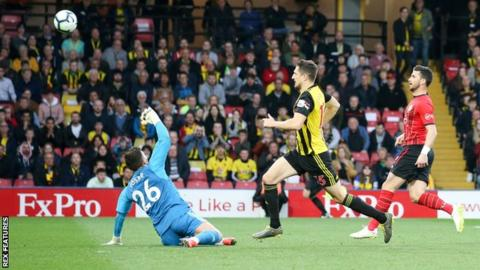 Long hits fastest Premier League goal but Saints draw with Watford