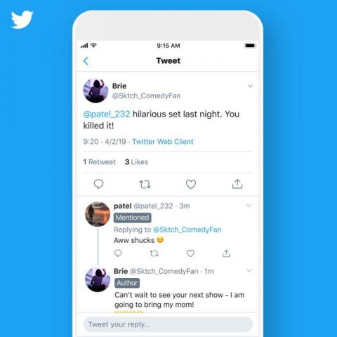 Twitter's latest test focuses on making conversations easier to follow by labeling tweets