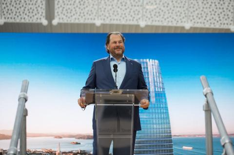 Salesforce CEO Marc Benioff made a now-deleted penis joke after his tower was missing from the Oracle Park Giants calendar (CRM, ORCL)