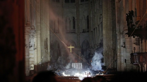 Notre-Dame de Paris after the fire (photo)