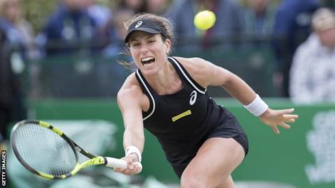 Johanna Konta into Morocco Open final with straight-set defeat of Ajla Tomljanovic