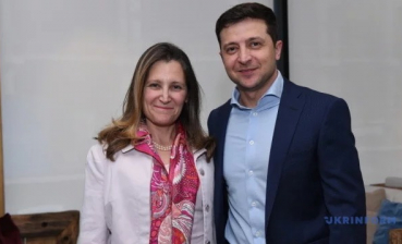 Zelensky, Freeland discuss settlement of Donbas conflict, fight against corruption
