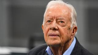 Jimmy Carter has surgery for broken hip after falling at home