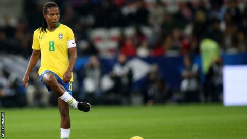Brazil's Formiga, 41, to play in seventh World Cup