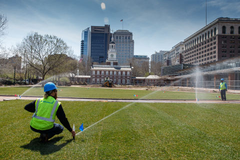 Philadelphiaa??s Historic Independence Mall Re-Opens: First Phase of Landscaping Renovations Completed by BrightView