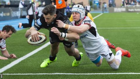 Seven-try Glasgow rout Ulster to reach Pro14 final