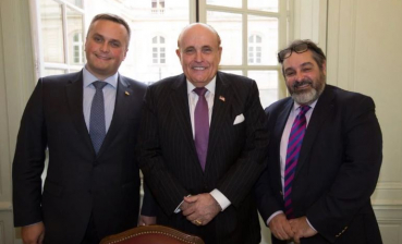 SAP Head Kholodnytsky, Trump's lawyer Giuliani and French 'hunter for corrupt officials' Pratt meet in France