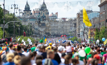 More than 18 000 people took part in Chestnut Run in Kyiv