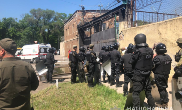 Unrest in Odesa penal colony: Four police officers injured, no casualties reported