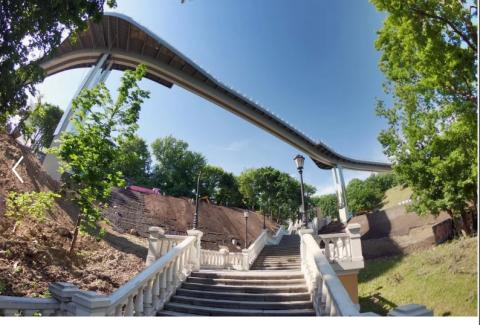 New pedestrian-bicycle bridge opened in Kyiv
