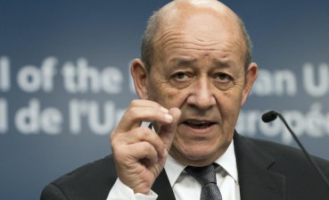 French Minister of Foreign Affairs Le Drian visits Chernobyl