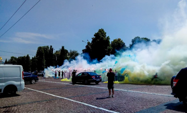 Kyiv downtown in smoke: National Corps hold protest (photo, video)