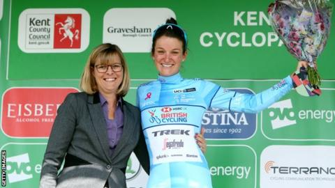 Deignan earns first podium since giving birth as Vos leads Women's Tour