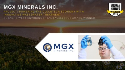 MGX Minerals Wins 2019 Suzanne West Environmental Excellence Award at the Global Petroleum Show