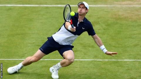 Murray returns with impressive doubles win at Queen