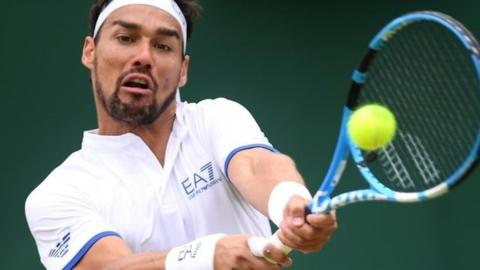 Wimbledon 2019: Fabio Fognini apologises over bomb outburst in loss to Tennys Sandgren