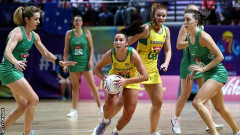 Holders Australia hammer Northern Ireland in Netball World Cup opener