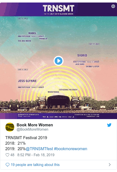 TRNSMT: All-female stage isn't about 'segregating women'