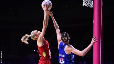 Netball World Cup 2019: England beat Scotland to progress in Liverpool