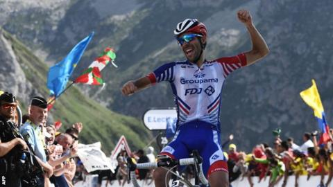 Thomas loses more time in Tour de France as Pinot wins on Tourmalet
