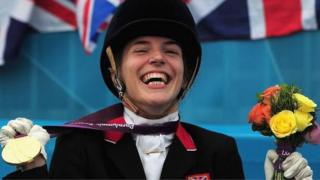Paralympian Sophie Christiansen stuck on SWR train